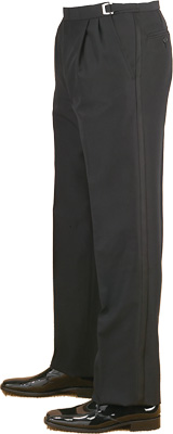 Pleated Pants - Pleated Pants with Satin Line