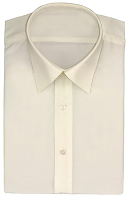 Ivory Lay Down Collar - Dress Shirt