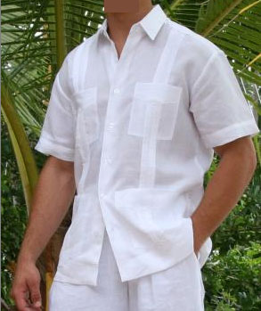 Linen Shirt  - Destination Apparel - Guayabera Linen Shirt