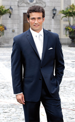 Single Breasted - 2 Button Notch - Navy Tux