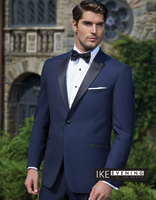 Blake Royal Blue Black lapel  Slim