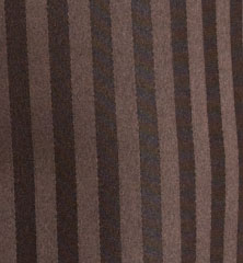 2 Button Chocolate Brown Shadow Stripe